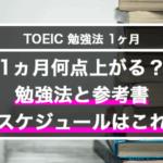 1ヵ月で何点上がる?TOEIC勉強法とスケジュール。参考書はこれだ!